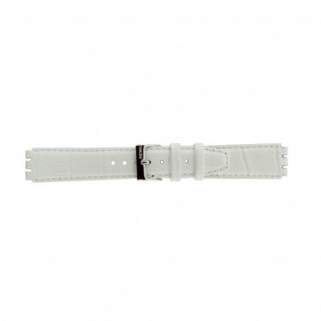 Urrem Swatch 21414.11 Læder Hvid 17mm