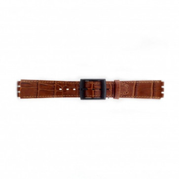Urrem til Swatch krokodille brun 16mm PVK-SC16.03