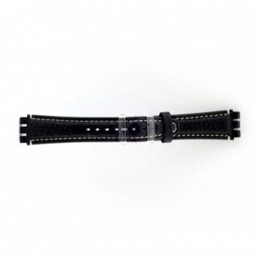 Urrem Swatch (alt.) ES.IRON-3.05 Læder Blå 19mm