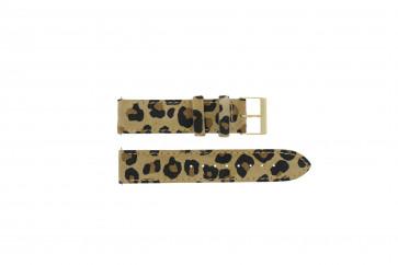 Guess urrem W16574L1 Læder Leopard 20mm