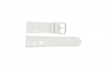 Echt lederen band croco wit WP-61324.32mm