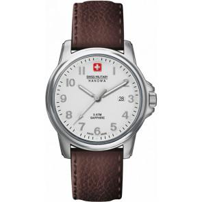 Swiss Military Hanowa urrem 06-4231-04-001 Læder Brun 24mm + syning brun