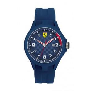 Ferrari urrem SF101.4 / 0830067 / SF689300097 / Scuderia Gummi Blå 22mm