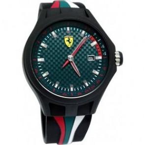 Ferrari urrem SF101.5 / 0830070 / SF689300050 Gummi Sort 22mm