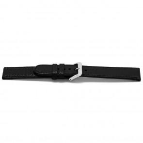 Urrem læder sort 16mm EX-E113