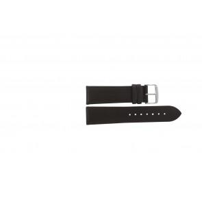 Ægte læder mørkebrun 22mm 283