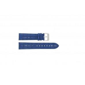 Ægte læder krokodille blå 22mm PVK-285