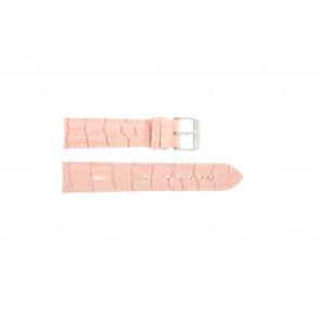 Ægte læder krokodille pink 22mm PVK-285