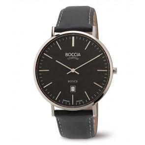 Urrem Boccia 3589-02 Læder Sort 20mm