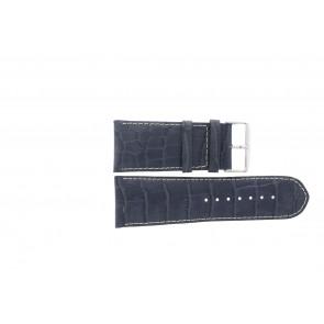 Ægte læder urrem krokodille mørkeblå WP-61324.36mm