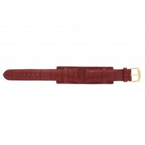 Urrem 61325.45.20 Læder Rød 20mm + syning rød