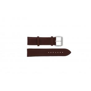 Davis urrem BB0231 Læder Brun mørk 21mm + syning brun