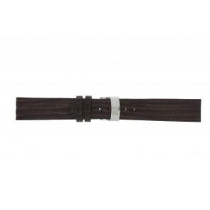 Elysee urrem Ely.02 Læder Brun mørk 20mm + syning brun