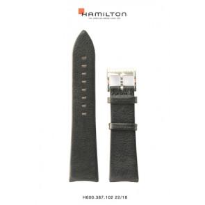 Urrem Hamilton H38755731 Læder Sort 22mm