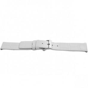Urrem Universel F520 Læder Hvid 18mm
