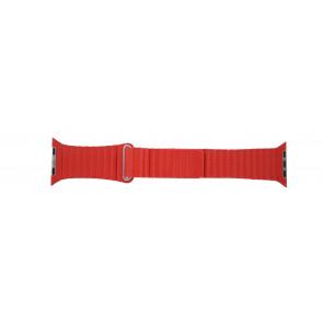 Apple (udskiftning model) urrem LS-AB-110 Læder Rød 42mm