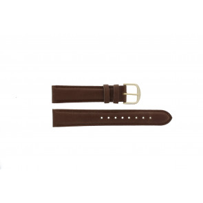 Q&Q urrem QQ18LDBG-GD Læder Brun 18mm + syning brun
