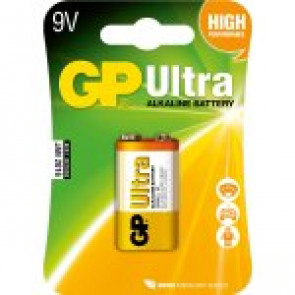 GP Batteri Ultra Alkaline 6LR61 - 9v