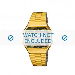 Casio urrem A168WEGC-3EF / A168WEGC-3 Stål Guld (Doublé) 18mm