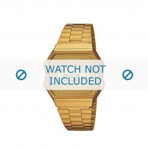 Casio urrem A168WG-9BWEF / A168WG-9BW Stål Guld (Doublé) 18mm