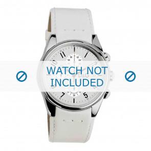 Dolce & Gabbana urrem 3719770084 Læder Hvid 20mm + syning hvid