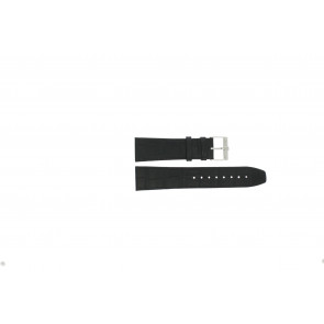 Jacques Lemans urrem FC29 / 9-201 Læder Sort 23mm + syning sort
