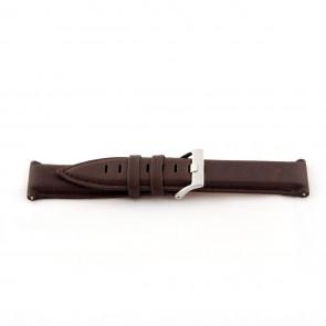 Ægte læderrem til ur medium brun 22mm EX-G119