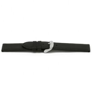Urrem læder sort 16mm EX-E129