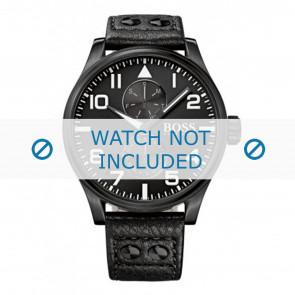 Hugo Boss urrem HB-88-1-34-2733 / HB1513083 Læder Sort 24mm + syning sort