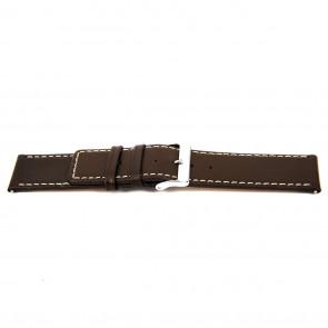 Urrem N310 Læder Brun mørk 34mm + syning hvid