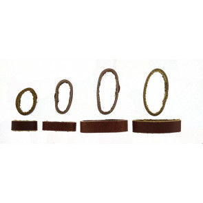 Urrem læderstrop brun 10mm