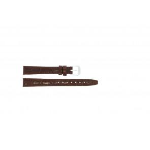 Læder urrem krokodille lakeret brun 14mm 082
