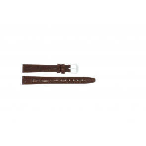 Læder urrem krokodille lakeret brun 10mm 082
