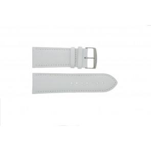 Ægte læder urrem hvid 32mm