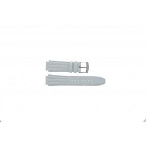 Urrem Seiko 7T92-0HD0 / SND875P1 / 4LE7JB Læder Hvid 16mm
