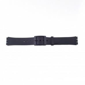 Plastikrem til Swatch sort tynd udgave 17mm PVK-P51