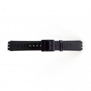 Urrem Swatch SC10.01 Læder Sort 17mm
