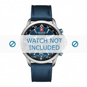Swiss Military Hanowa urrem 06-4224.04.003 Læder Blå 22mm + syning blå