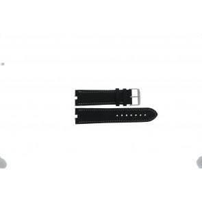 Tommy Hilfiger urrem TH-38-1-14-0686 ALT 307.01 Læder Sort 24mm + syning hvid