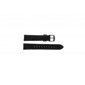 Timex læder sort rem 18mm T2N790