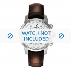 Tissot urrem T361.461 PRC-200 - T600013367 Krokodille skind Brun 19mm + syning brun