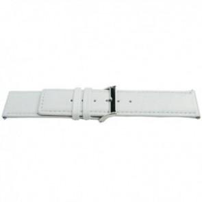 Urrem Universel M505 Læder Hvid 32mm