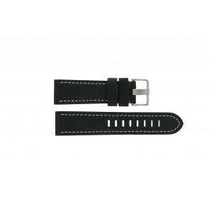 Prisma urrem ZWST23 Læder Sort 23mm + syning hvid